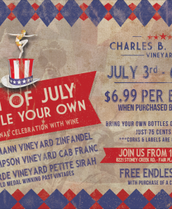 4th of July Bottle Your Own Wine